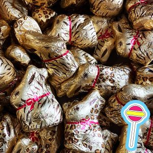40 x 10g Lindt Easter Gold Bunnies | Tiger and Leopard Print | Gift Box